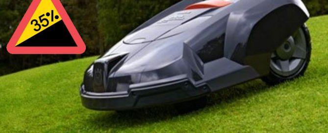 robotgräsklippare lutning